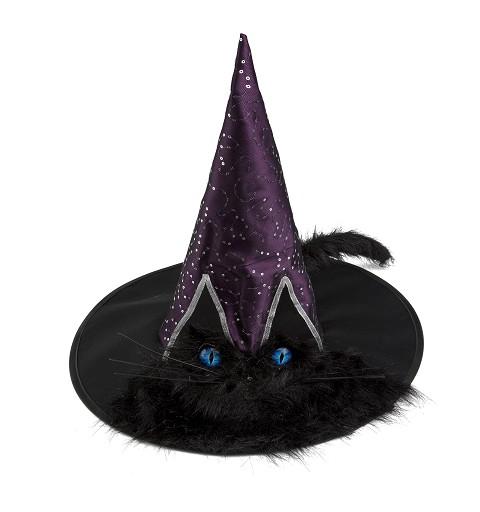 Sombrero Bruja Gato Adulto