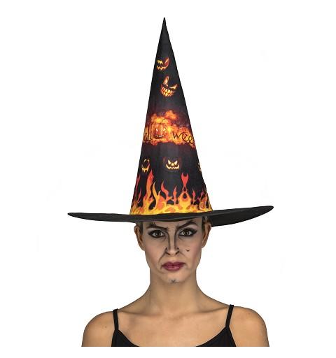 Sombrero Bruja Fuego Adulto