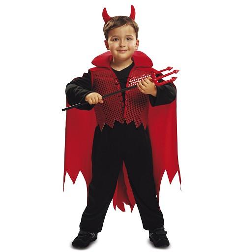 Disfraz Demonio Rojo Capa Niño