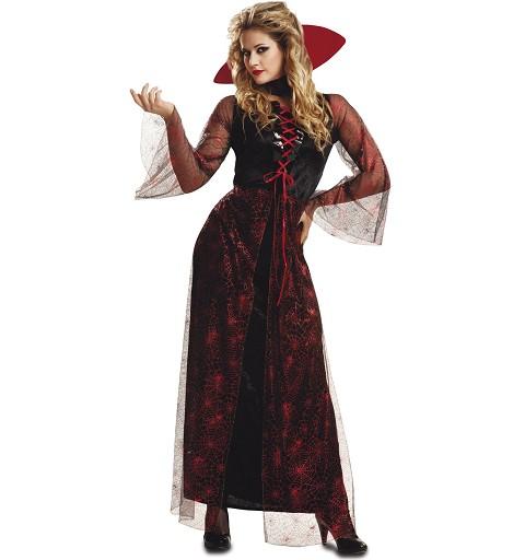Disfraz Vampiresa Roja Mujer