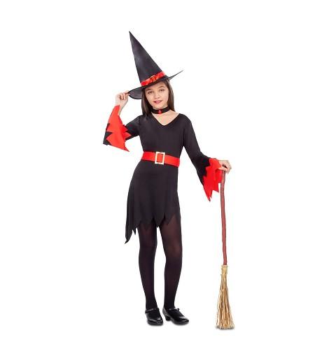 Disfraz Bruja Rojo Infantil