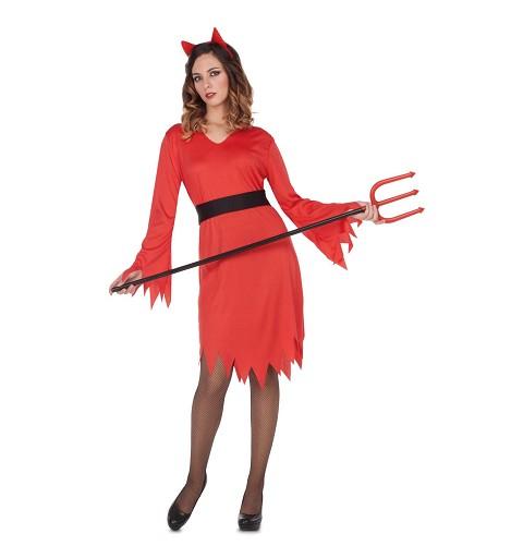 Disfraz Diablesa Fuego Mujer