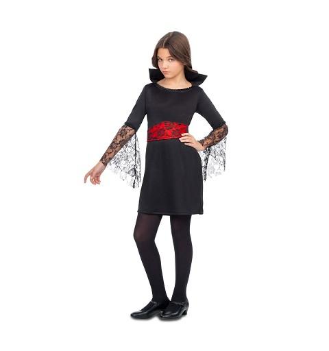 Disfraz Vampiresa Encaje Niña