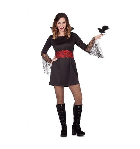 Disfraz Vampiresa Encaje Mujer