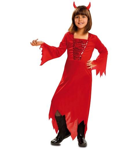 Disfraz Demonia Roja Niña