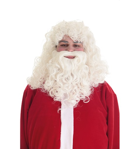 Peluca y Barba Papa Noel Lux