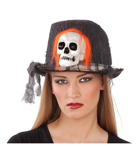 Sombrero con Calavera Adulto