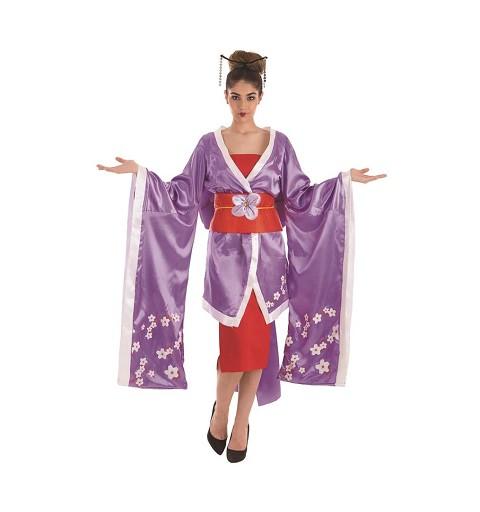 Disfraz Geisha Flores Adulto