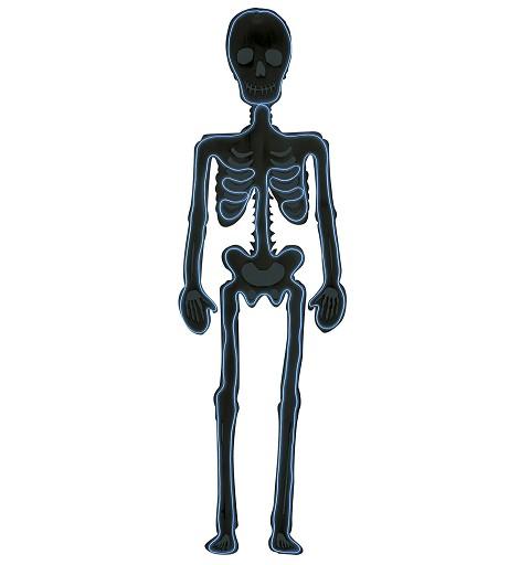 Siluetas Esqueleto Neon