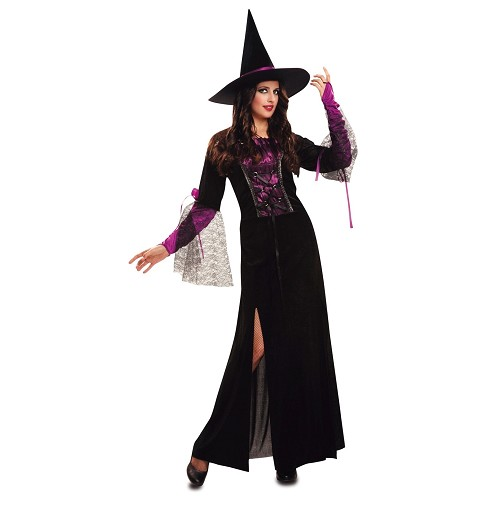 Disfraz Bruja Púrpura Mujer