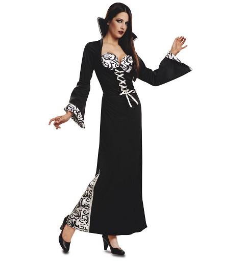 Disfraz Vampiresa Blanco Y...