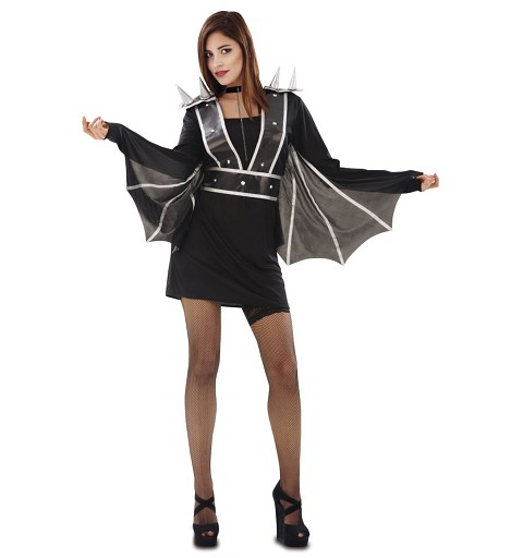 Disfraz Murciélago Punky Mujer