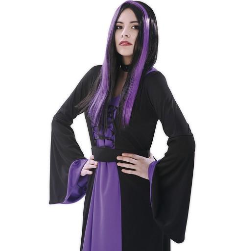 Peluca De Bruja Negra Y...