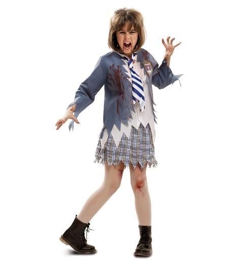 Disfraz Estudiante Zombie Niña