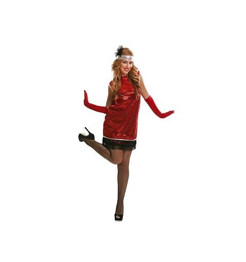 Disfraz de Charleston Rojo...