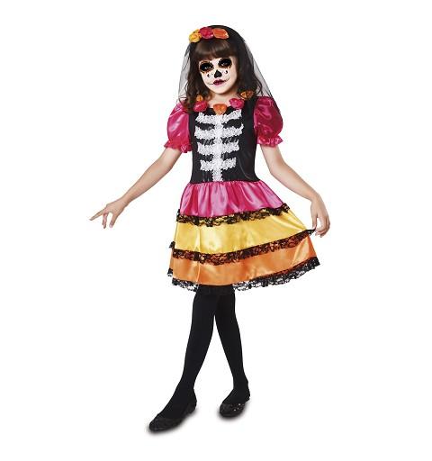 Disfraz Catrina Esqueleto Niña