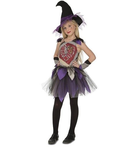 Disfraz Bruja Esqueleto Niña