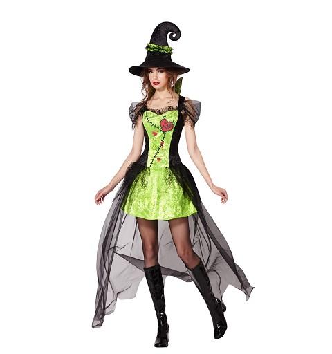 Disfraz Bruja Verde Mujer