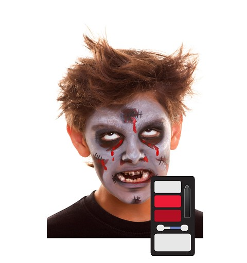 Kit Maquillaje Infantil Zombie