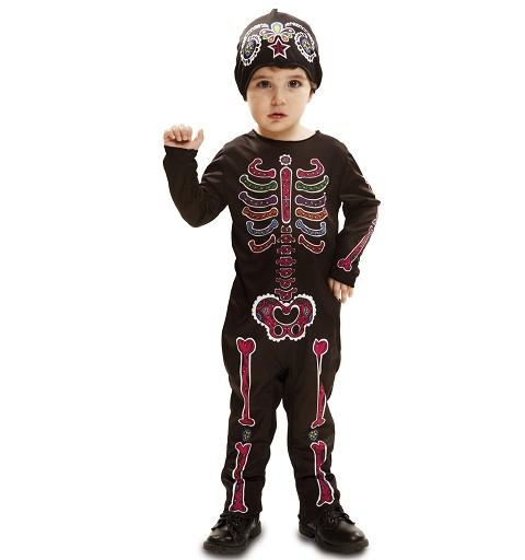 Disfraz Esqueleto Color Día...