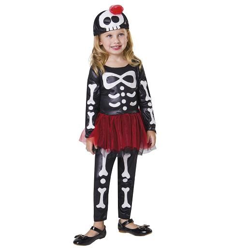 Disfraz Esqueleto Tutu Niña