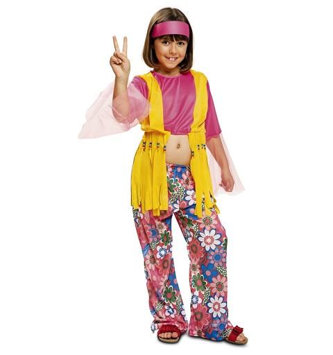 Disfraz Hippie Flower Niña