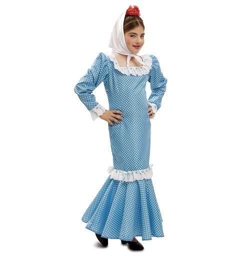 Disfraz Madrileña Azul Niña