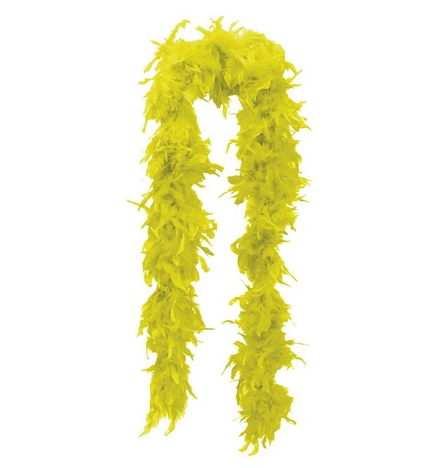 Boa Marabú  Amarilla DE 180 CM
