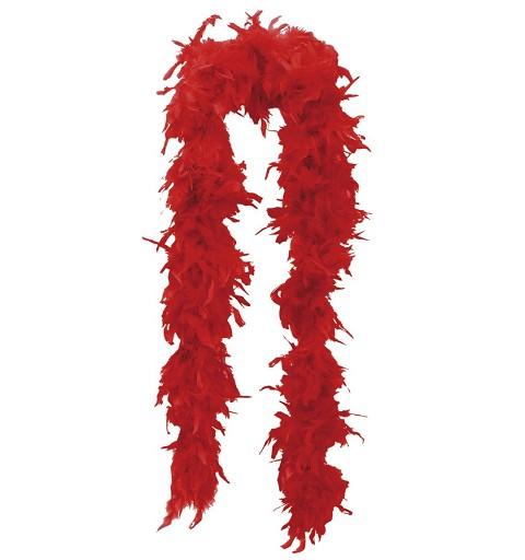 Boa Marabú  Roja de 180 cm
