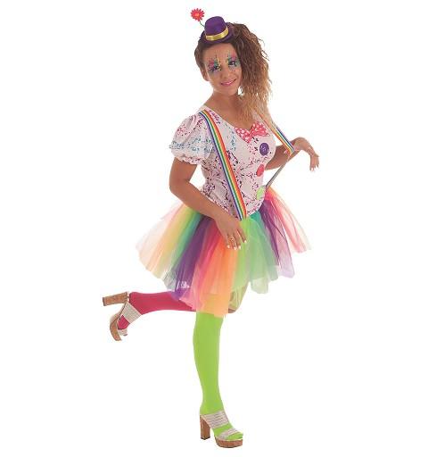 Disfraz Payasa Arco Iris...