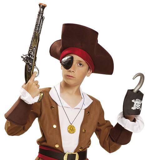 Pistola Pirata Con Parche Y...