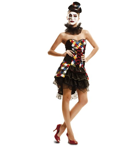 Disfraz Payasa Sexy Mujer
