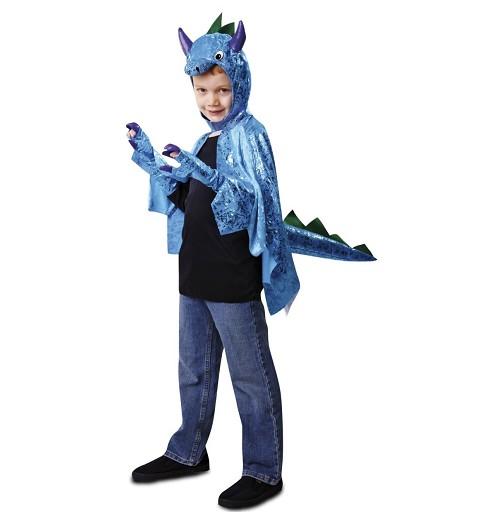 Capa de Dinosaurio Azul...