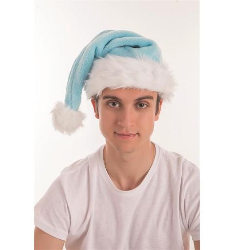 Gorro de Papá Noel Celeste
