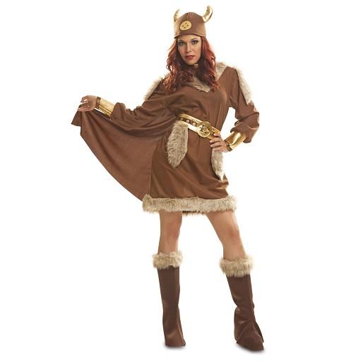 Disfraz de Vikinga Marrón...