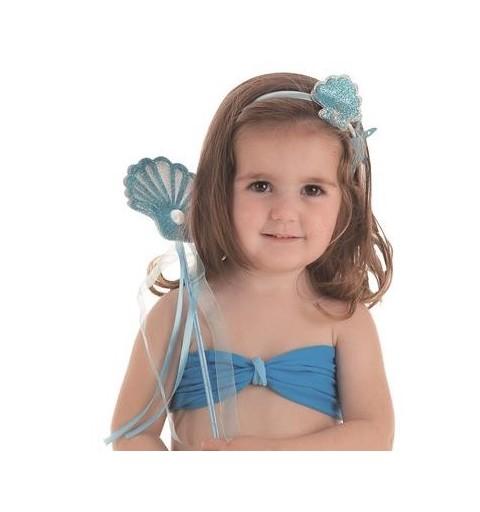 Top Sirenita Azul para Niña