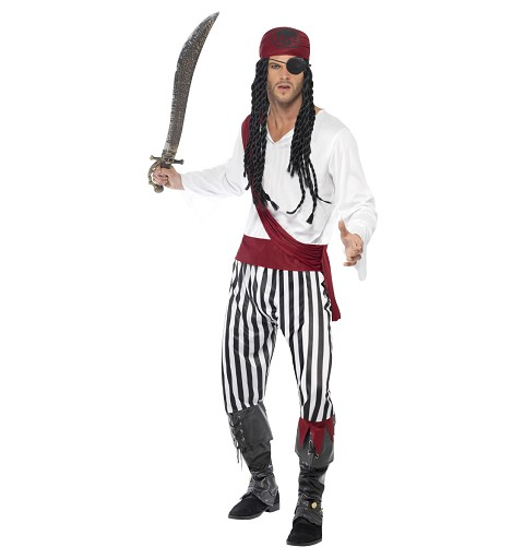 Disfraz de Pirata Blanco y...