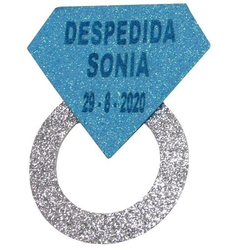 Pin Anillo Despedidas Azul