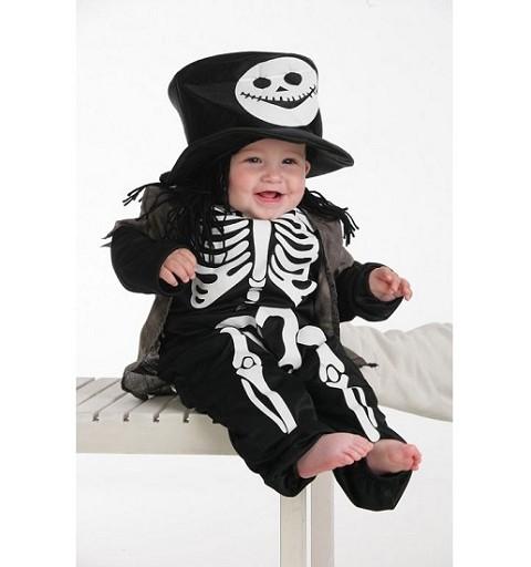 Disfraz Esqueleto Bebe con Chistera (0 a 12 meses)