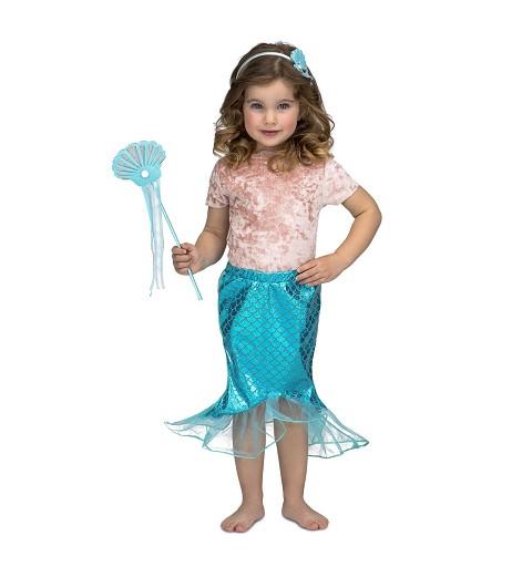 Tutú Sirenita Azul para Niña