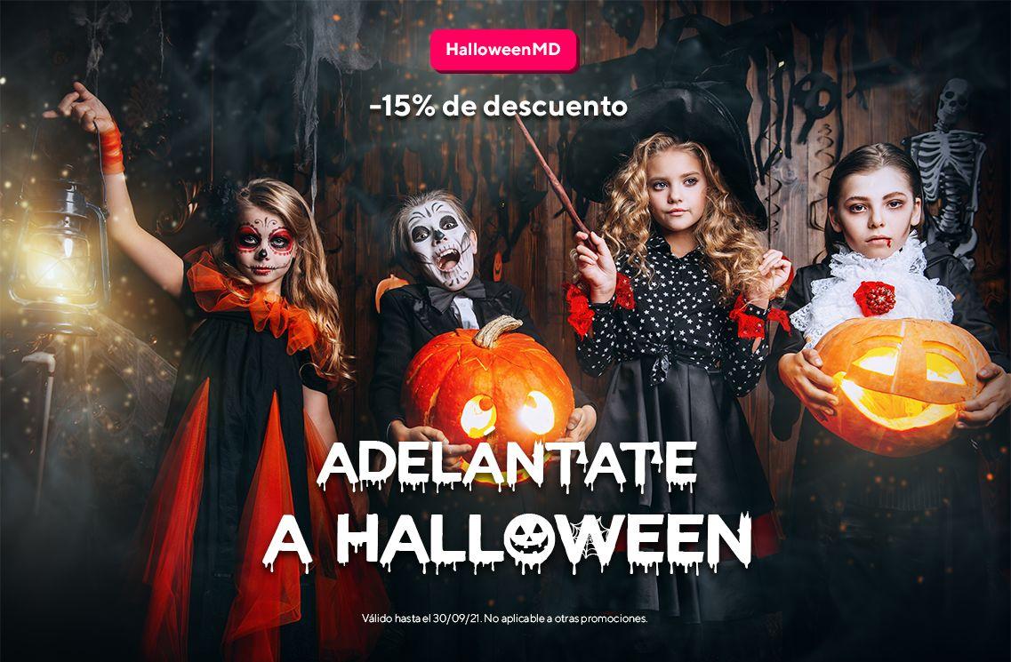 Disfraces de Halloween con 15% DTO
